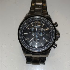 Akribos  watch large silver diver